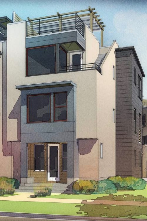 Design for Daybreak townhome with roof deck