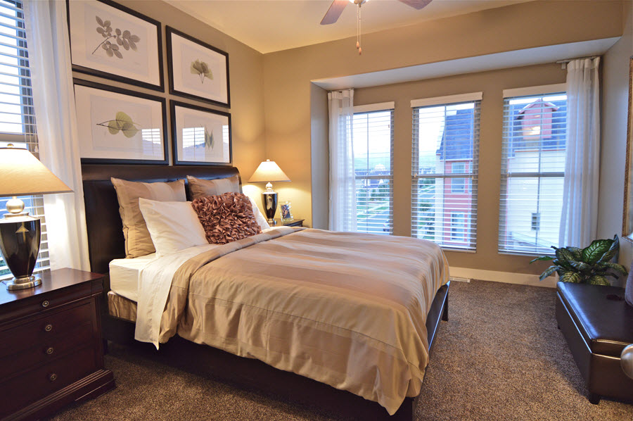 Master bedroom of Daybreak townhome